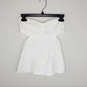 Zara White Cut Out Top Small G418